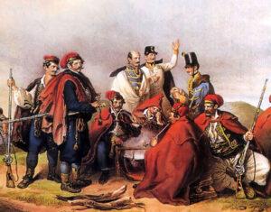Ban Josip Jelačić i njegovi vojnici pre bitke