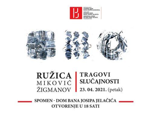 """Izložba slika """"Tragovi slučajnosti"""" u Velikoj dvorani Spomen-doma bana Josipa Jelačića"""
